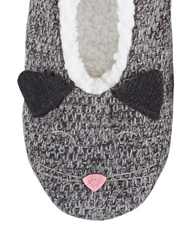 Hue Critter Shue Slippers-BLACK-Small