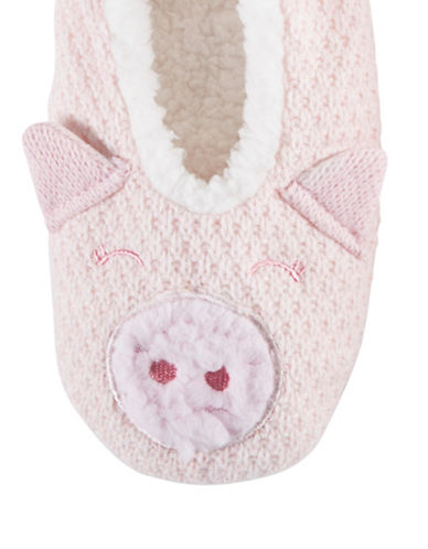 Hue Critter Shue Slippers-PINK-Medium