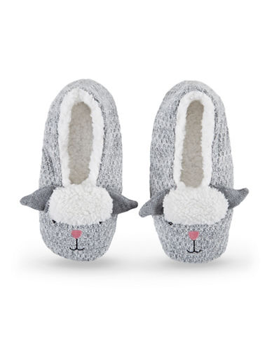 Hue Critter Shue Slippers-GREY-Large
