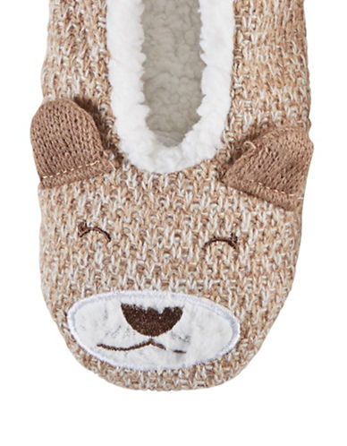 Hue Critter Shue Slippers-BROWN-Large