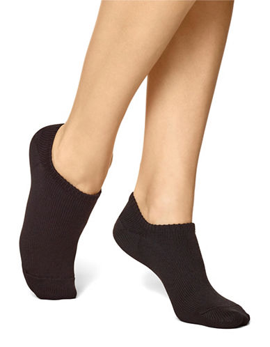 Hue Spacedye No-Show Socks-BLACK-One Size