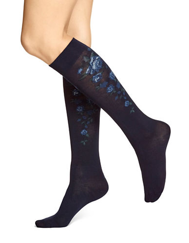 Hue Modal Knee Socks-BLUE HAZE-One Size