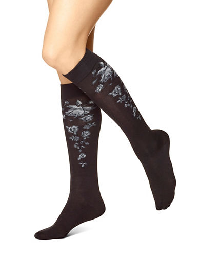 Hue Modal Knee Socks-GREY DOVE-One Size