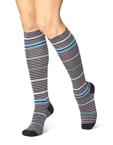 Hue Modal Knee Socks-MARINE-One Size