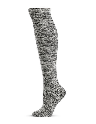 Hue Womens Super Plush Knee Socks-BLACK MULTI-One Size