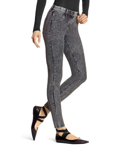 Hue Essential Denim Plus Leggings-BLACK-1X