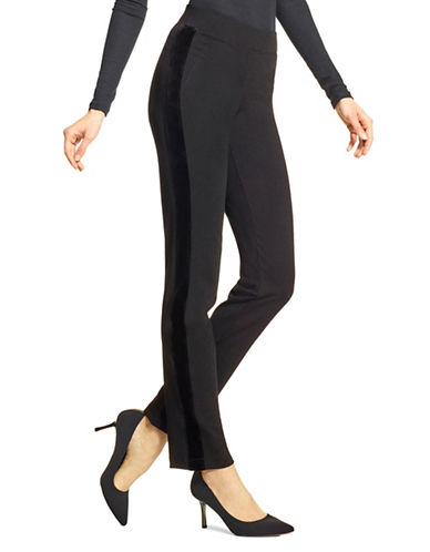 Hue Straight-Fit Banded Leggings-BLACK-Large