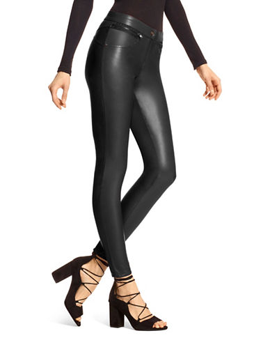 Hue Leatherette Leggings-BLACK-X-Large 89359355_BLACK_X-Large