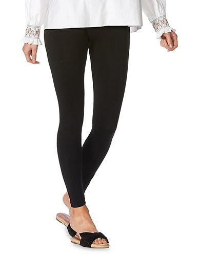 Hue Seamless Style Leggings-BLACK-Small/Medium