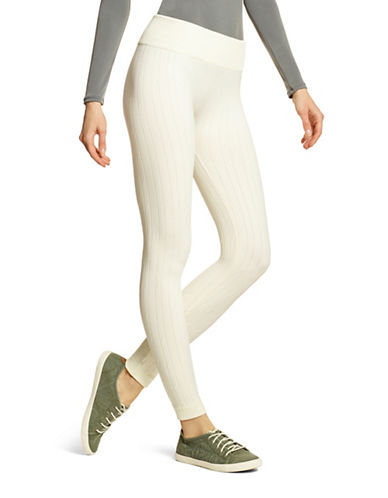 Hue Cable Knit Seamless Leggings-IVORY-Medium/Large