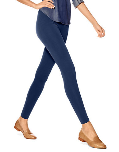 Hue Brushed Seamless Leggings-NAVY-Small/Medium