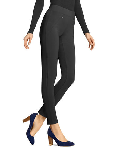 Hue Cropped Leggings-BLACK-X-Small