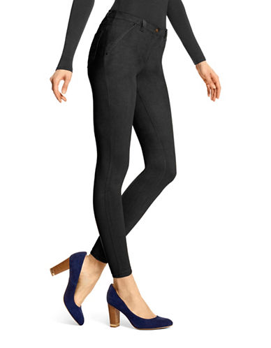 Hue Microsuede Leggings-BLACK-Small