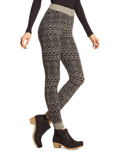 Hue Fairisle Leggings-BLACK-Large