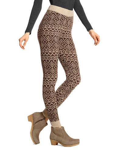 Hue Fairisle Leggings-ESPRESSO-Small
