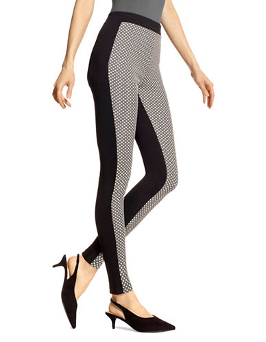 Hue Glitz Checkered Leggings-BLACK-Small 89367482_BLACK_Small