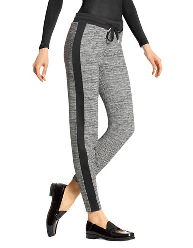 Hue Lux Tweed Leggings-BLACK/SILVER-X-Small