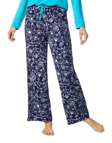 Hue Garden Party Pyjama Pants-BLUE-X-Large