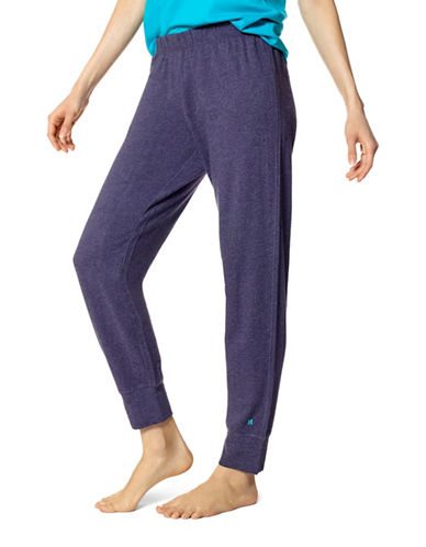 Hue Elasticized Lounge Pants-NAVY-Large