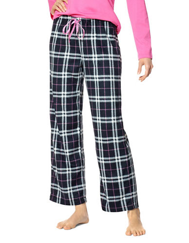 Hue Plaid Pyjama Pants-BLACK-Large 89574306_BLACK_Large