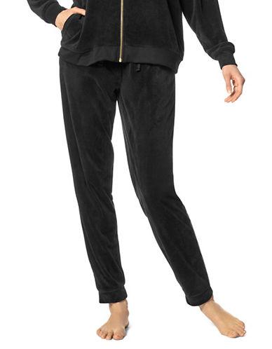 Hue Velour Jogger Pants-BLACK-Small 89573958_BLACK_Small