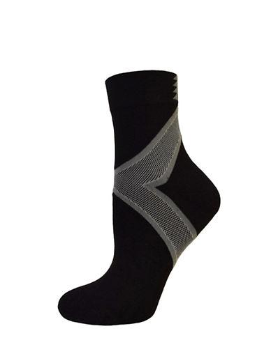 Hue Power Mini Crew Socks-BLACK-One Size