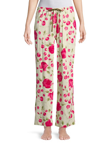 Hue Printed Pyjama Pants-OFF WHITE-Small