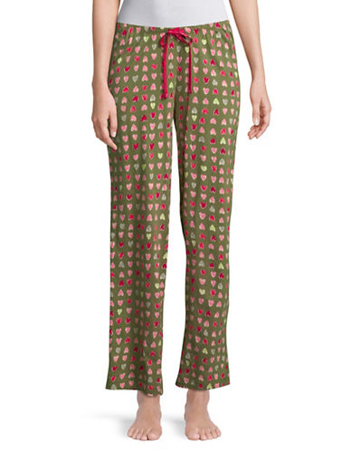 Hue Printed Pyjama Pants-OLIVINE-Small