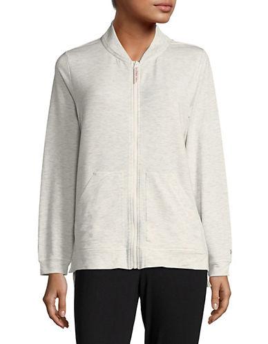 Hue Solid Long-Sleeve Zip-Front Jacket-NATURAL-Medium 89725371_NATURAL_Medium