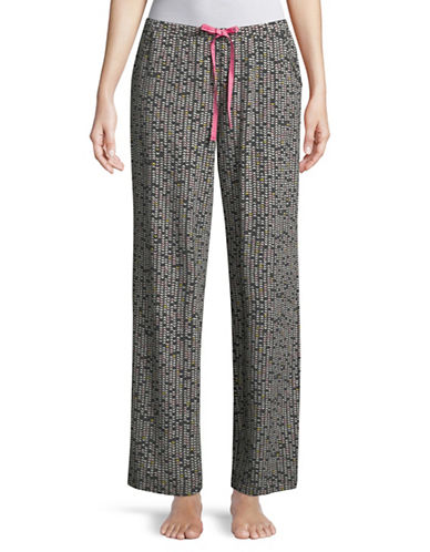 Hue Heart Print Sleep Pant-GREY-Large