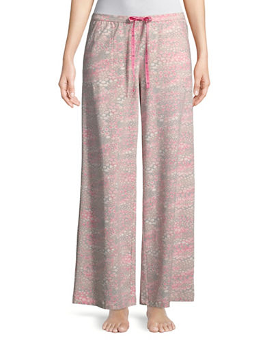Hue Animal Crazed PJ Pants-SILVER-Small