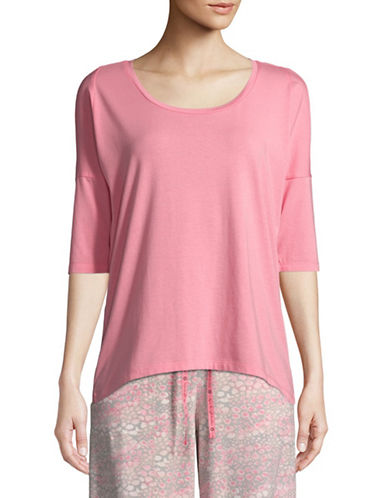 Hue Solid Sleep Tee-PINK-X-Large
