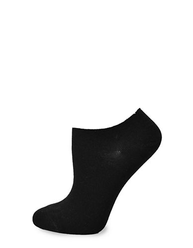 Hue Two-Pack Modal Sneaker No Show Socks-BLACK-One Size 89815582_BLACK_One Size