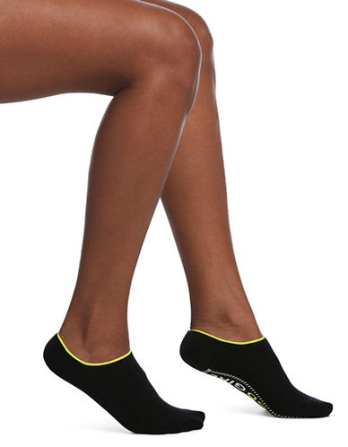Hue Inspiration Gripper No Show Cushioned Socks-BLACK-One Size 89815533_BLACK_One Size