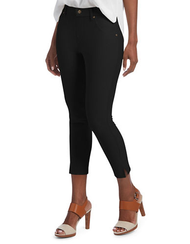 Hue Ankle Slit Essential Capri Pants-BLACK-Large 89821519_BLACK_Large