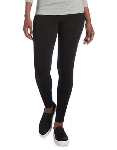 Hue Crisscross Cotton Leggings-BLACK-Medium 89825074_BLACK_Medium