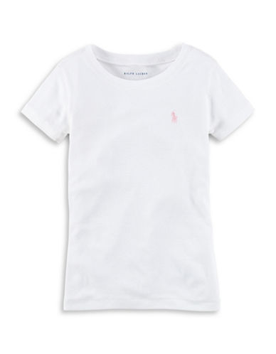 Ralph Lauren Childrenswear Crew Neck Tee-WHITE-3T