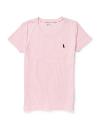 Ralph Lauren Childrenswear Crew Neck T-Shirt-PINK-Small 88526987_PINK_Small