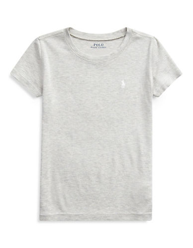 Ralph Lauren Childrenswear Crew Neck T-Shirt-GREY-Large