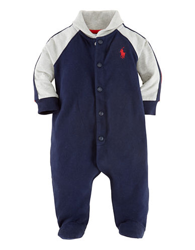Ralph Lauren Childrenswear One Piece Coverall-FRENCH NAVY-6 Months