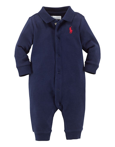 Ralph Lauren Childrenswear Interlock Coverall-FRENCH NAVY-6 Months