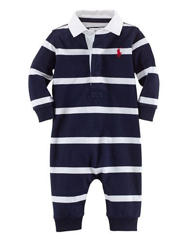 Ralph Lauren Childrenswear One Piece Coverall-FRENCH NAVY-3 Months