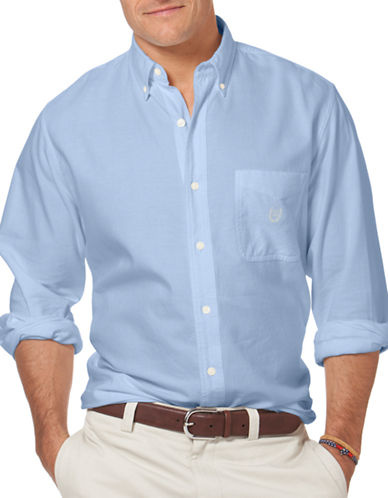 Chaps Oxford Sport Shirt-BLUE-Small