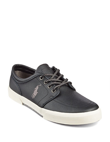 Polo Ralph Lauren Faxon Leather Shoes-BLACK-8