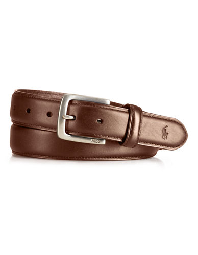 Polo Ralph Lauren Leather Suffield Belt-TAN-34