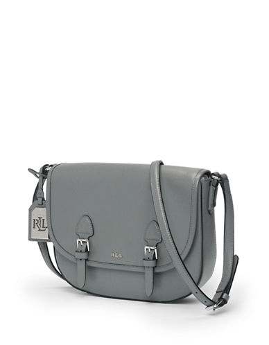 b9f6abeec8 ... Orig UPC 888188184954 product image for Lauren Ralph Lauren Tate  Leather Messenger Bag-STEEL GREY- ...