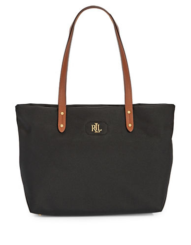 Lauren Ralph Lauren Bainbridge Nylon Shopper-BLACK-One Size
