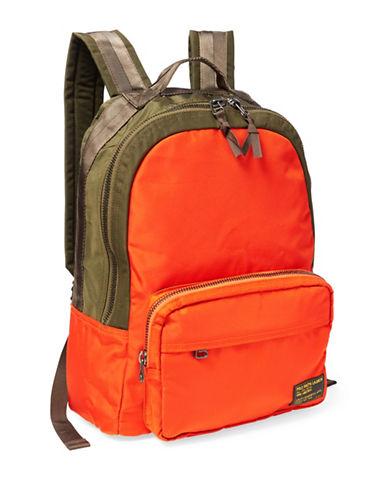 Polo Ralph Lauren Colourblock Nylon Military Backpack-ORANGE-One Size