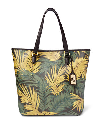 Lauren Ralph Lauren Amberly Palm Dalia Tote Bag-PALM-One Size