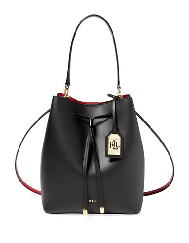 Lauren Ralph Lauren Dryden Medium Drawstring Bag-BLACK-One Size 88623393_BLACK_One Size